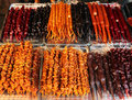 Churchkhela, traditional candle shaped georgian candy, at street market in Tbilisi Royalty Free Stock Photo