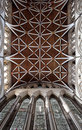 Churh interior, york minster ornate ceiling Royalty Free Stock Photo