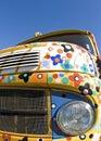 Ciężarówka, stara kolorowa ciężarówka. Retro style. Fotografia Stock