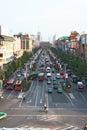 Ciężki porcelany ruch drogowy xi. Obrazy Stock