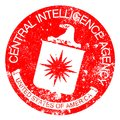 CIA Red Rubber Stamp Royalty Free Stock Photo
