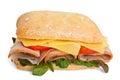 Ciabatta bread sandwich Royalty Free Stock Photo