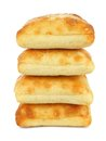 Ciabatta buns stack of isolated on a white background Stock Images