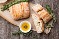 Ciabatta and Olive oil Royalty Free Stock Photo