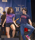 "Ciara renee and kyle dean massey kick up their heels singing on the right track from pippin at ""stars in the alley "" a free Stock Photos"