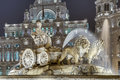 Cibeles Fountain at Madrid, Spain Stock Image