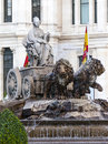 Cibeles fountain in madrid spain Stock Images