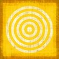 Cible grunge jaune Photos libres de droits