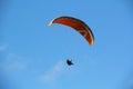 Ciel bleu Parapente Images libres de droits