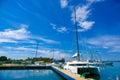 Cienfuegos cuba september cienfuegos tennis and yatch club building and marina under bright daylight sun Stock Photos