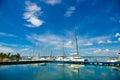 Cienfuegos cuba september cienfuegos tennis and yatch club building and marina under bright daylight sun Stock Photo