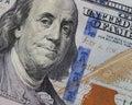 Cientos dólares dólares bill stock photo Fotografía de archivo