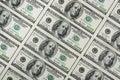 Cientos dólares de billetes de banco Fotografía de archivo