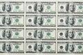 Cientos dólares de billetes de banco Fotos de archivo libres de regalías