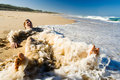 Ciesz się plażowi faceta Obraz Stock