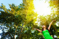 Cieszy się słońce kobiety Zdjęcie Stock
