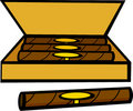 Cigar box vector illustration Stock Image