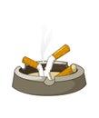 Cigaretes on Ashtray Royalty Free Stock Photo