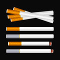 Cigarette on black several cigarettes the background eps mesh gradient is used Royalty Free Stock Photography