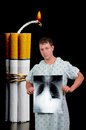 Cigarette Bomb Stock Photography