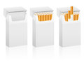 Cigarette boxes box set on a white background Stock Images