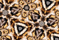 Cigarette butts abstract photo pattern