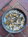 Cigarette Butts in an Ashtray Royalty Free Stock Photo