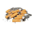 Cigarette butts isolated Stock Images
