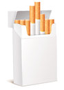 Cigarette pack 3d Royalty Free Stock Photo