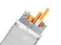 Cigarette Pack isolated on white Royalty Free Stock Photo