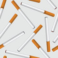 Cigarette seamless background smoke tobacco cigarettes pattern smoking palce illustration Royalty Free Stock Photo