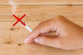 Cigarette smoking prohibit campaign or stop Royalty Free Stock Images