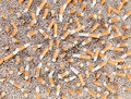 Cigarettes chaos from above Royalty Free Stock Photo