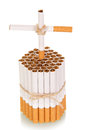 Cigarettes kill. Stop smoking. Anti-tobacco concept isolated Royalty Free Stock Photo