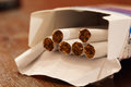Cigarettes pack Royalty Free Stock Photo