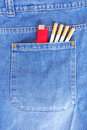 Cigarettes in pocket Stock Image