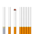 Cigarettes some on a white background eps mesh gradient is used Stock Image