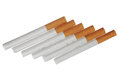 Cigarettes the on a white background is isolated Royalty Free Stock Photography