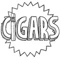 Cigars sketch Stock Image