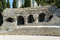 Cimiez arenas roman ruins ruin in nice france Royalty Free Stock Photo