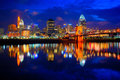 Cincinnati Ohio at Sunrise Royalty Free Stock Photo