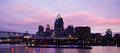 Cincinnati Ohio After Sunset Royalty Free Stock Photo