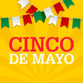 Cinco De Mayo background for a celebration held on May 5. Mexican holiday template in colors of national flag.