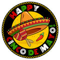 Cinco De Mayo Badge Stock Images