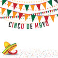 Cinco de mayo bunting background eps vector royalty free stock illustration for greeting card ad promotion poster flier blog Royalty Free Stock Photography