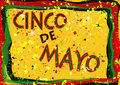 Cinco de mayo celebration sign Royalty Free Stock Image