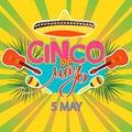 Cinco De Mayo coaster design, poster, flier, signage, party invitation