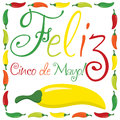 Cinco de mayo feliz happy th of may card in format Stock Photo