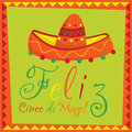 Cinco de mayo feliz happy th of may card in vector format Royalty Free Stock Photo