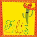 Cinco de mayo feliz happy th of may card in vector format Stock Image